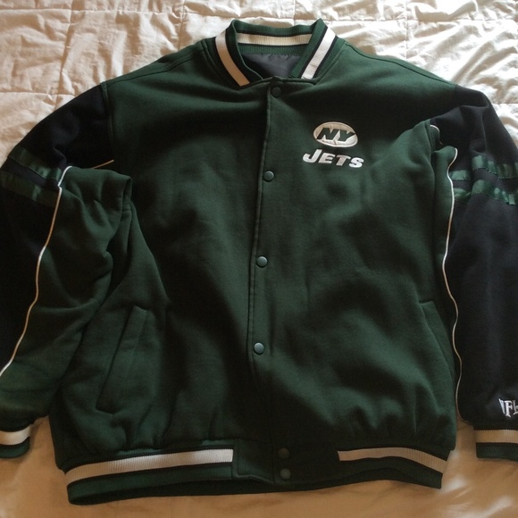 uk availability b7d69 7d37a NFL Shop NY Jets reversible wool jacket.
